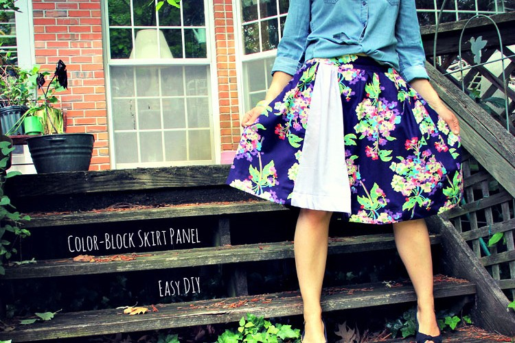 Easy Color-Block Skirt Panel – Summer of No Pants