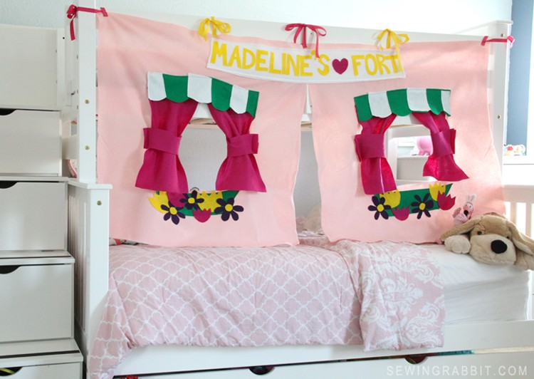 Bunk Bed Fort DIY