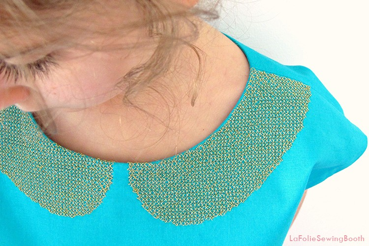 Cross Stitch Peter Pan Collar DIY