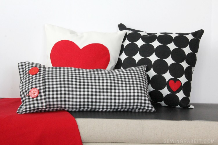 Easy Valentine Plaid + Heart Pillow DIY