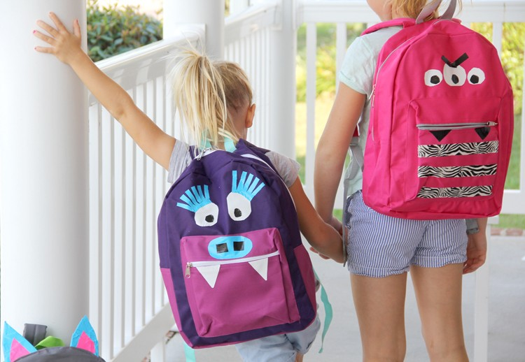 No-Sew Monster Backpack DIY