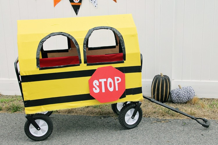 Cardboard School Bus Wagon