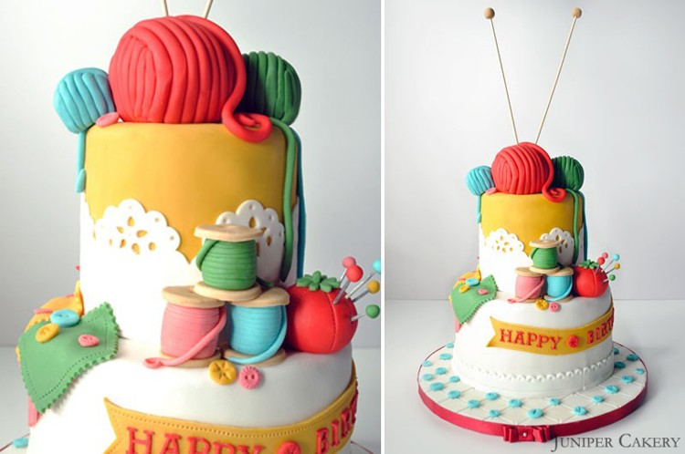 Birthday Cake Art And Craft : Gorgeous Sewing Themed Cakes - The Sewing Rabbit