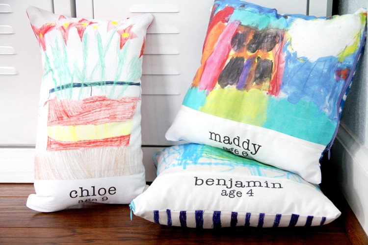 Turn kids artwork into fabric
