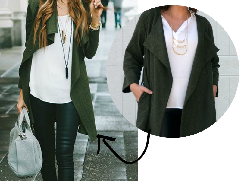 Make This Look: Drapey Jacket