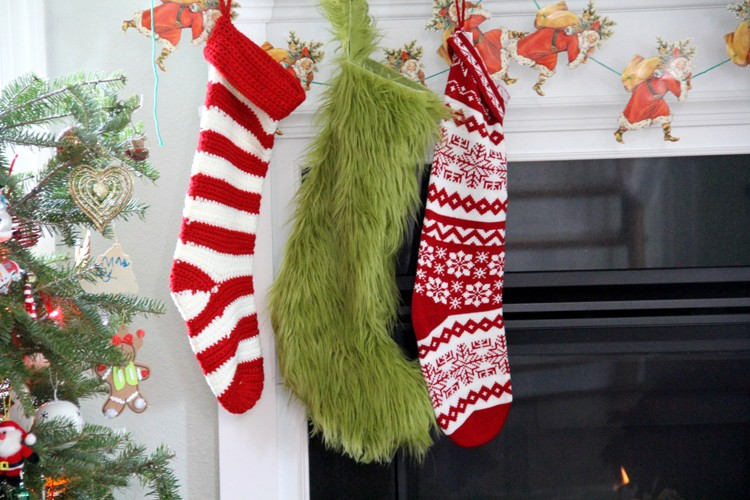 Grinch Stocking DIY
