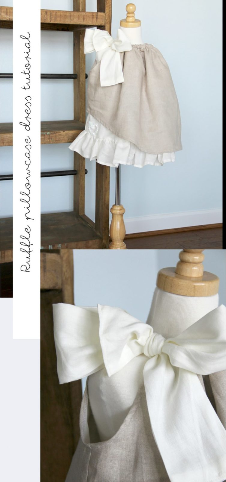 how to sew a ruffled pillowcase dress