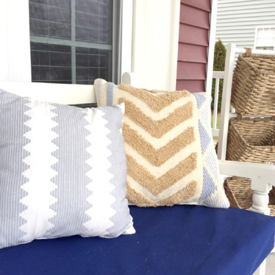 How to keep your outdoor pillows in place