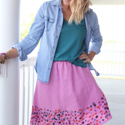 Mother's Day Fingerprint Skirt