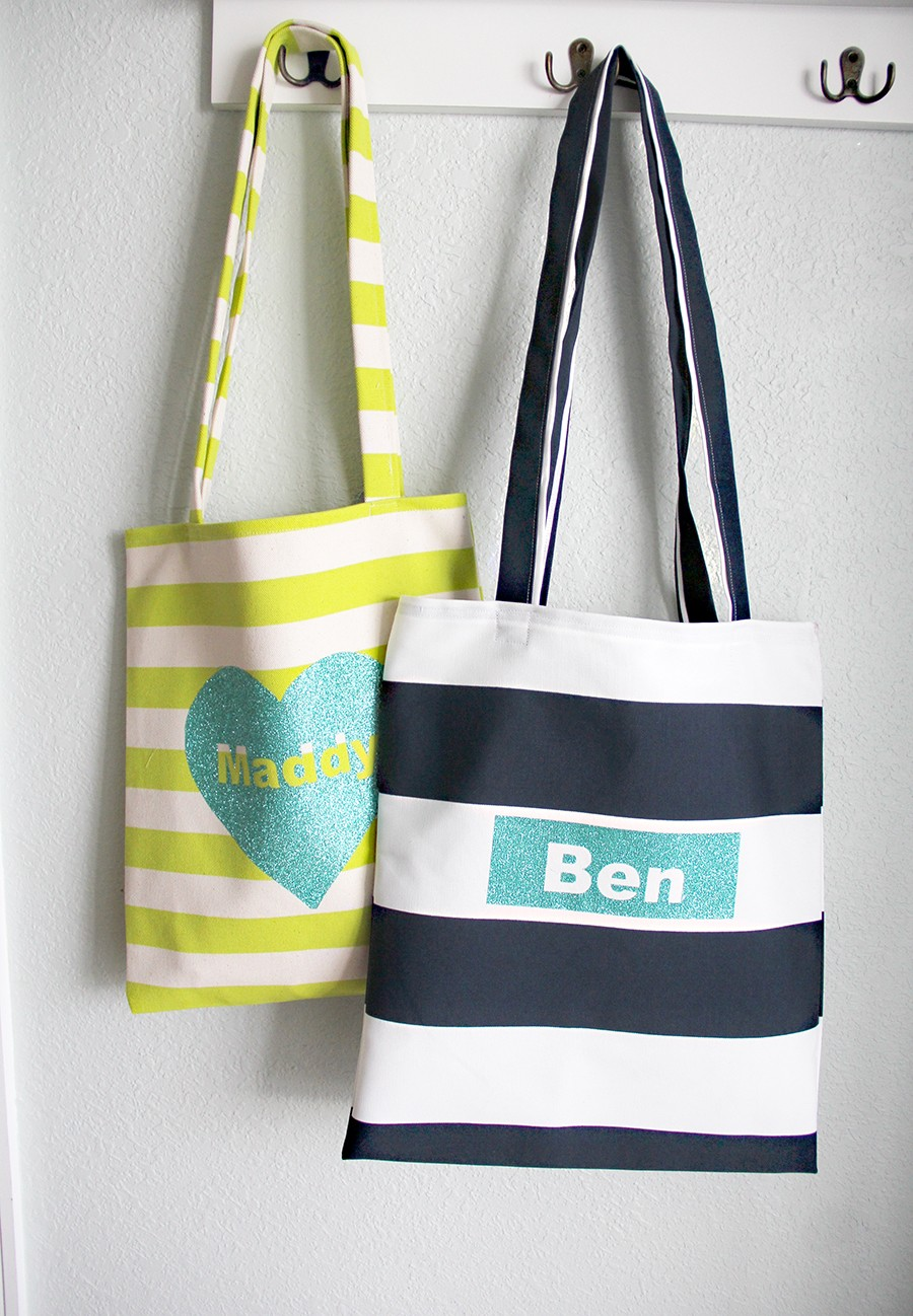 how to sew an easy tote, perfect for Valentine's Day!