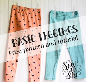 free kids leggings sewing pattern