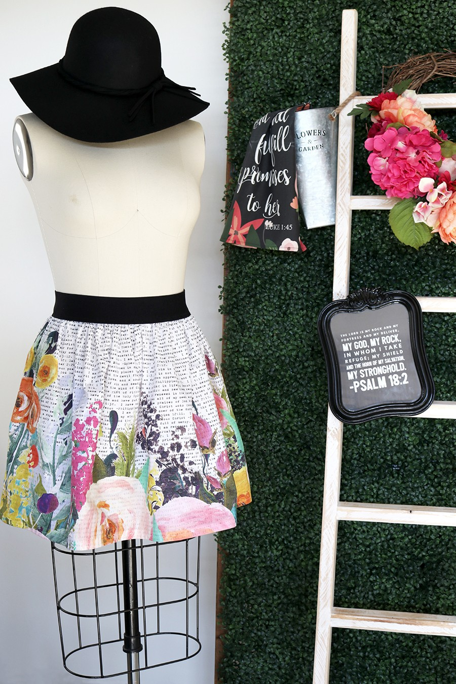 I am floral bible skirt