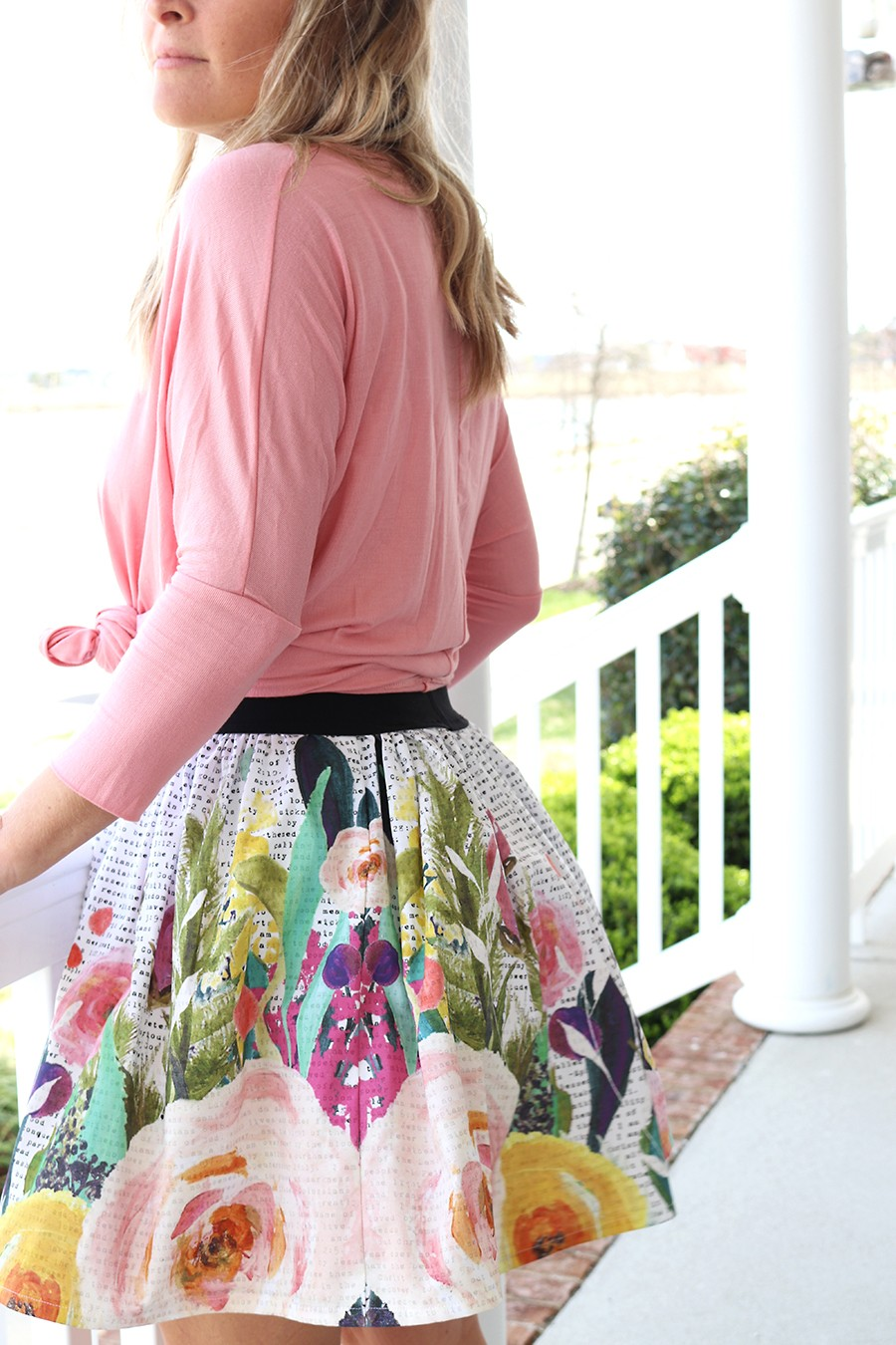 I Am Floral bible skirt sewing kit