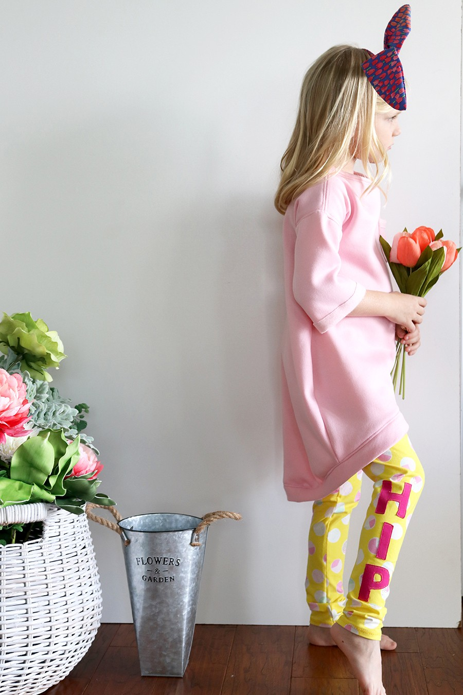 'Hip Hop' Leggings - free kids leggings pattern for Easter