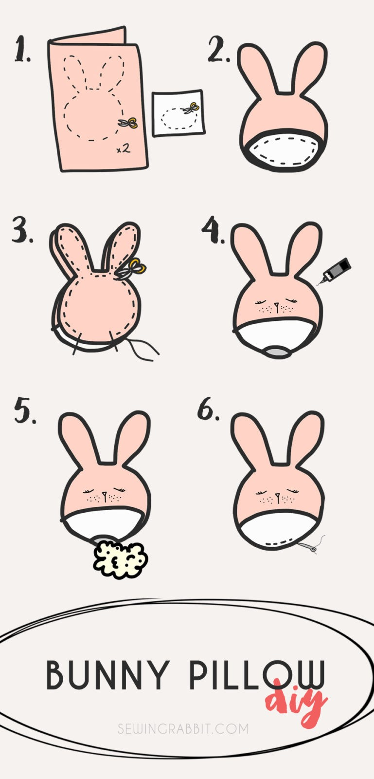 how to make an easy stuffed bunny
