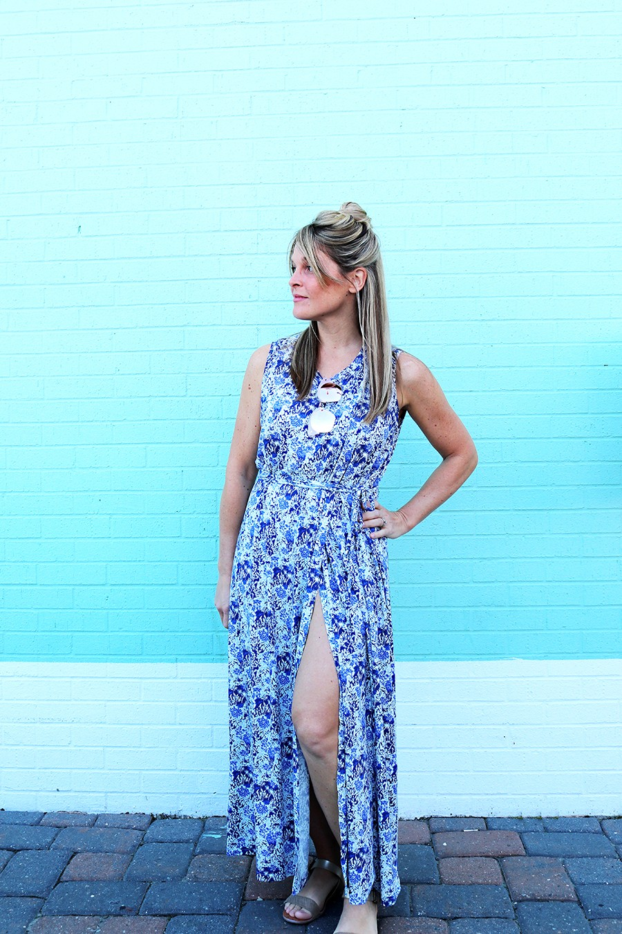 Make this Look: Maxi dress || anneli dress by named patterns, liberty of London fabric