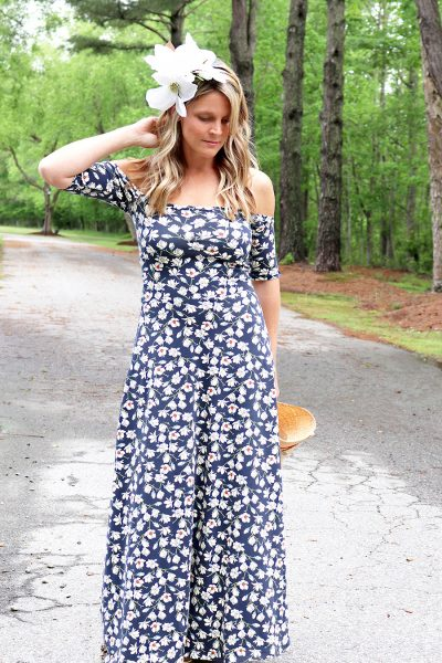Off the Shoulder Maxi Dress DIY