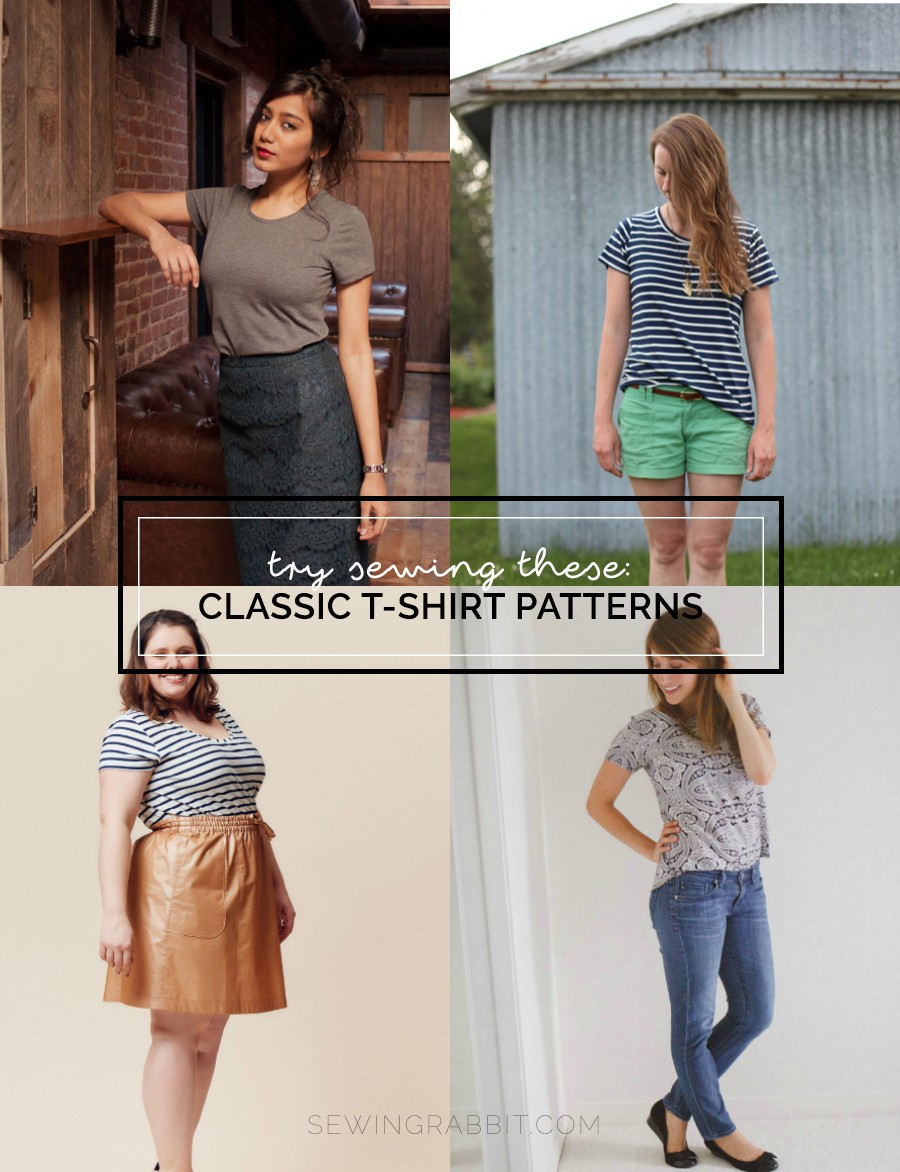 4 women's t shirt patterns to sew