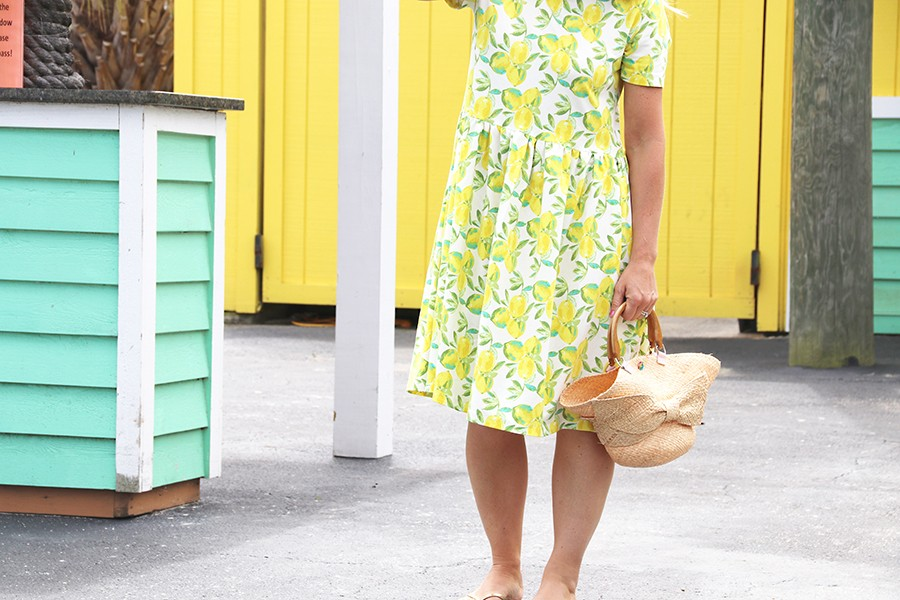 Make this Look: freshwater lemon dress
