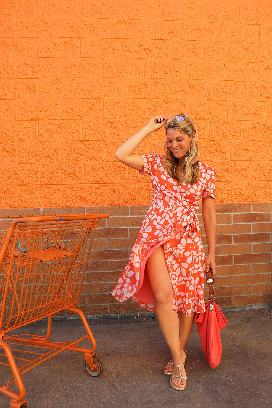 MAKE THIS: Orange Wrap Dress
