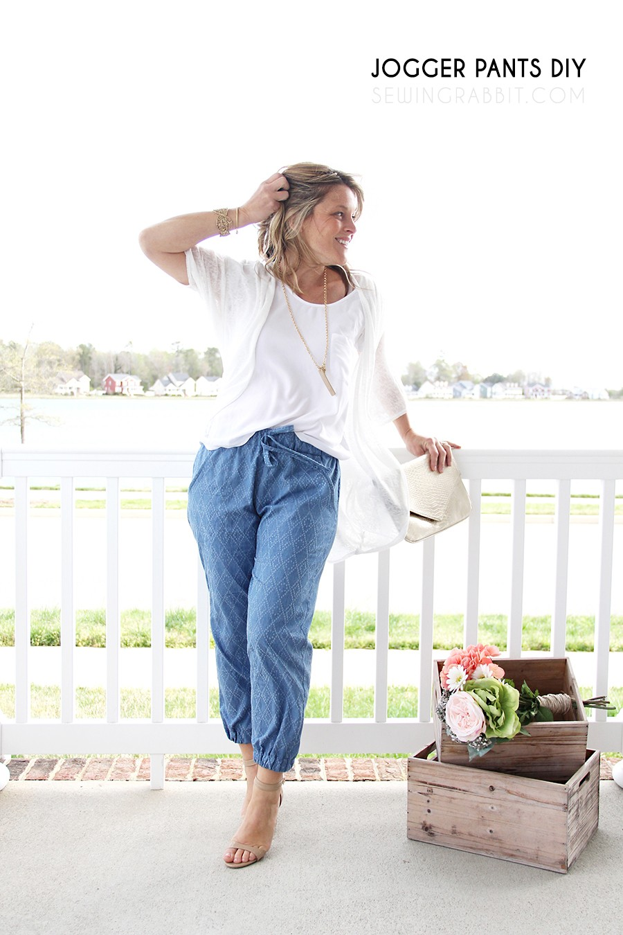 how to make jogger pants, that aren't sweatpants!