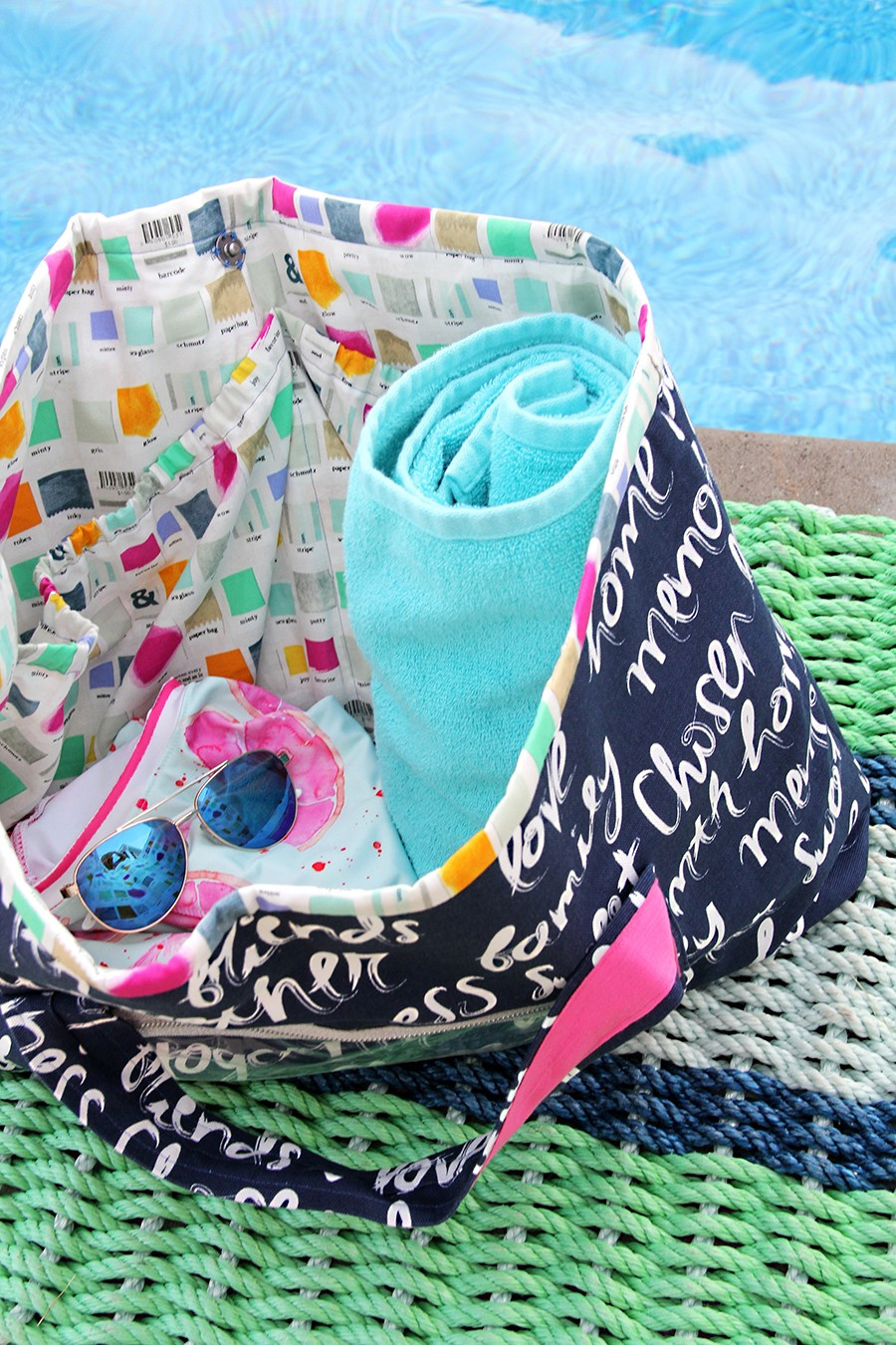 MAKE THIS LOOK: Weekender Style Pool Tote