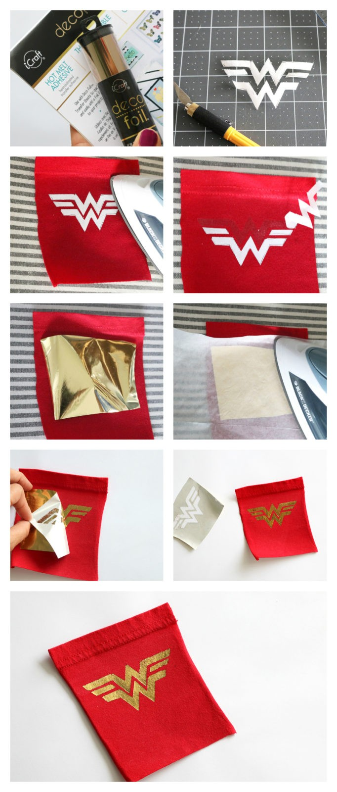 how to sew a Wonder Woman inspired tank top
