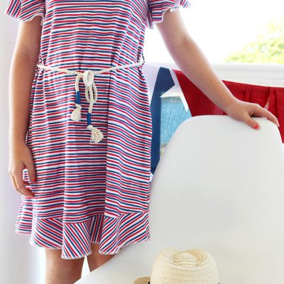 Circle Ruffle Dress