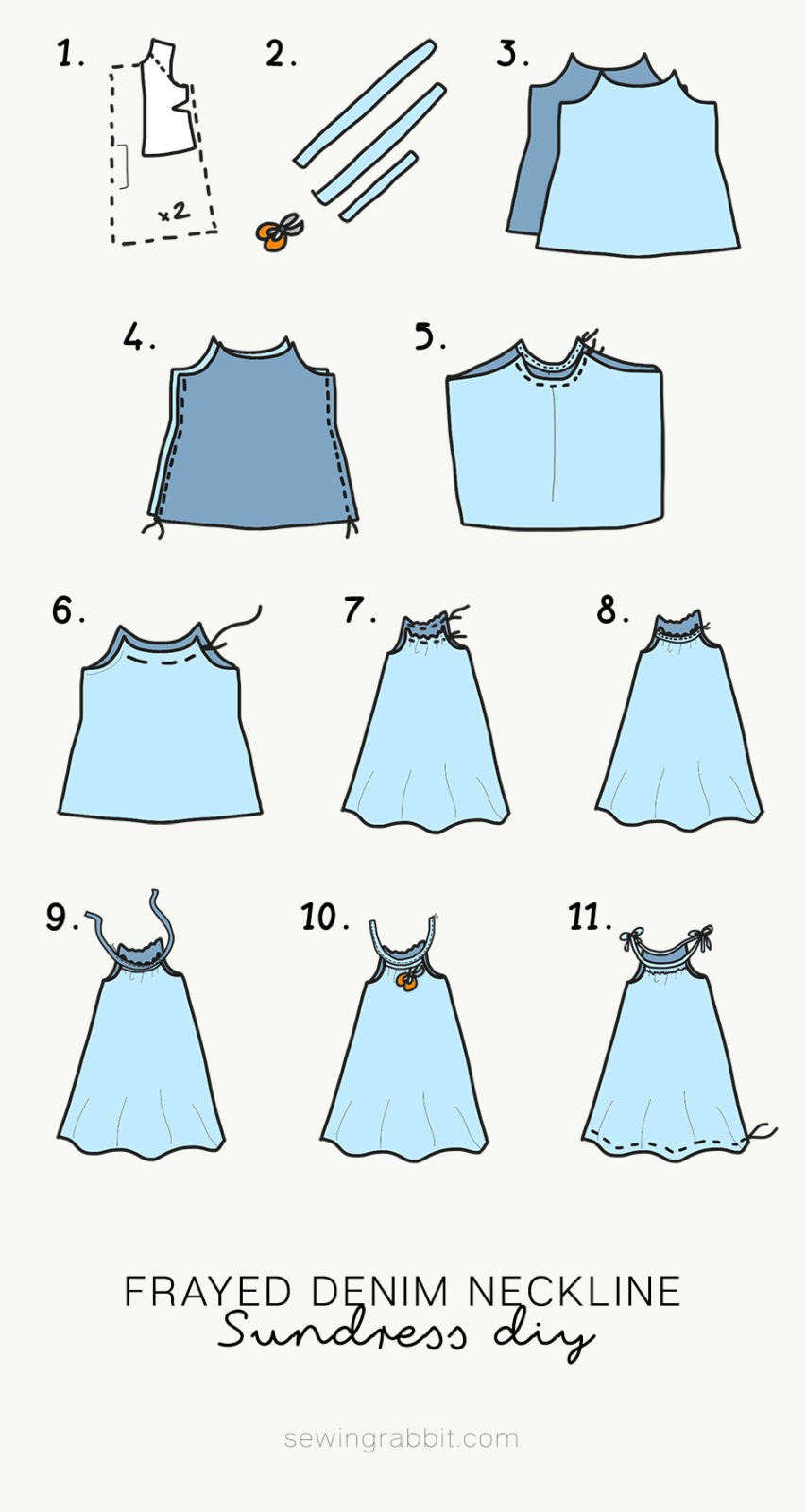 how to sew a woman's sundress