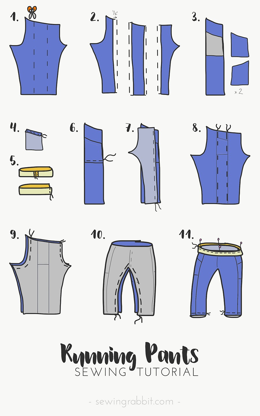 how to sew jogging leggings