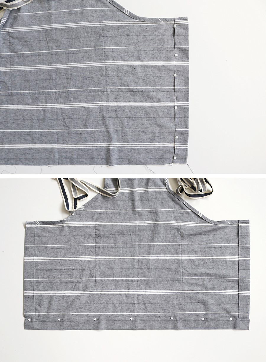 make this: linen and leather apron DIY