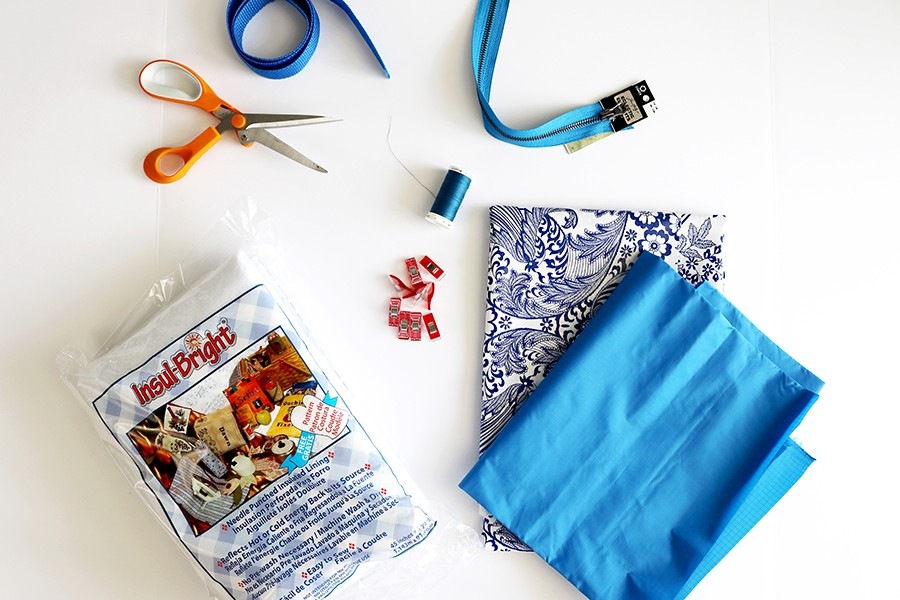 materials list for insulated lunch bag