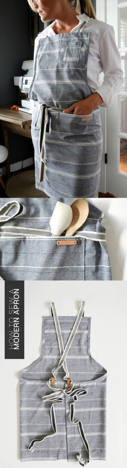 how to sew a classic apron for the modern woman