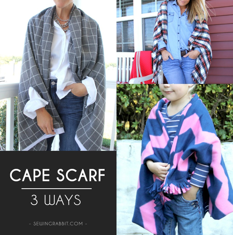 MAKE THESE: Capes scarves. Perfect for Fall!