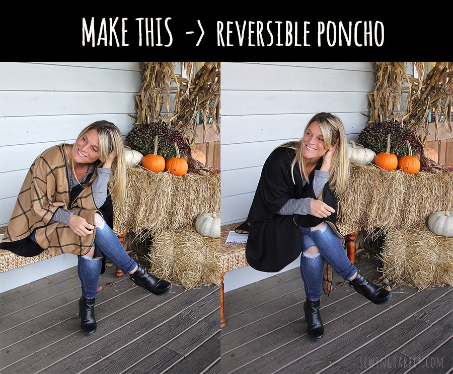 FALL FASHION: reversible poncho