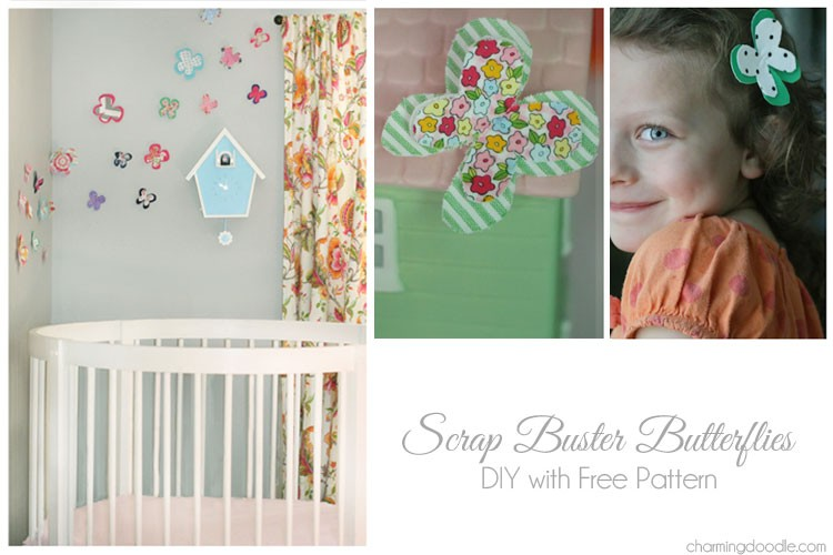 Fabric Scrap Butterfly DIY – Free Pattern