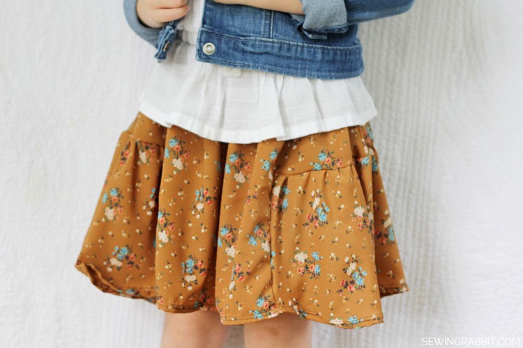 Side Bustle Kids Skirt DIY || Fall Collection 2013