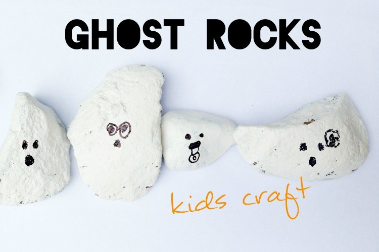 Ghost Rocks Kids Craft