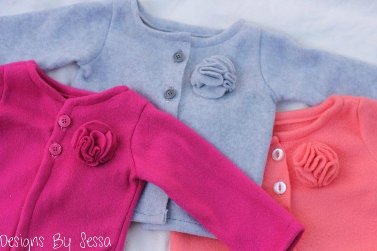 Flower Fleece Cardigan Sewing Tutorial