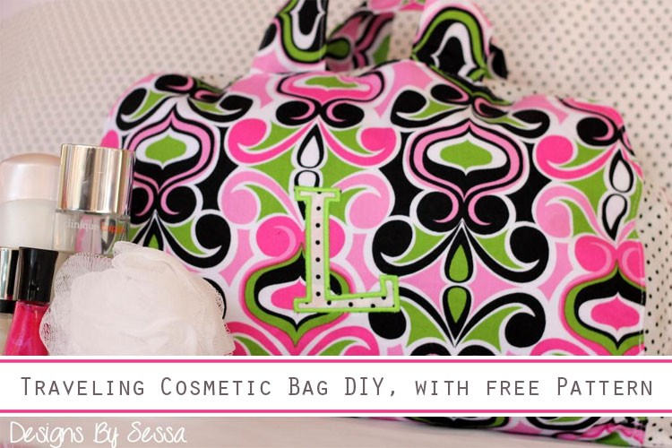 Cosmetic Bag DIY, with Free Pattern - The Sewing Rabbit