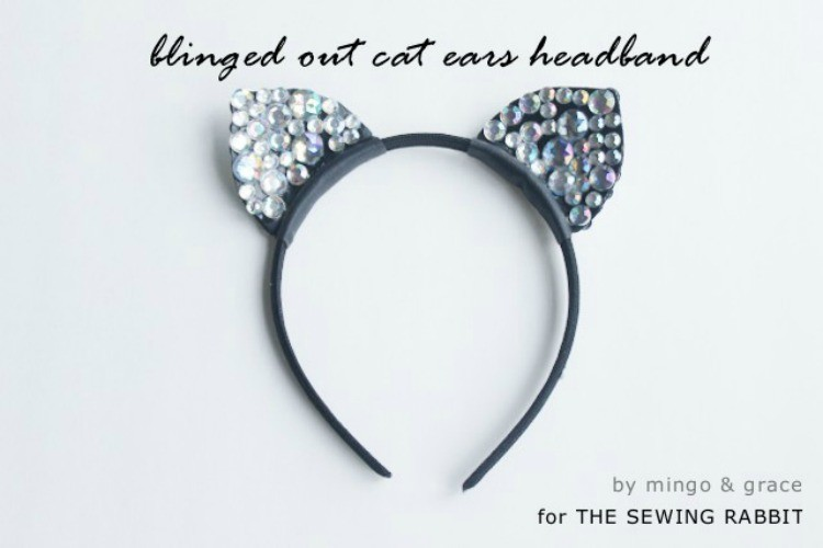 Blinged Out Cat Ears Headband Diy Sewing Rabbit