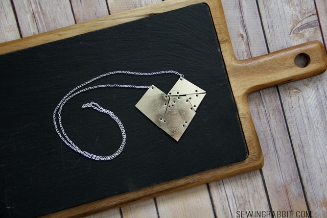 Leather Geometric Heart Necklace DIY