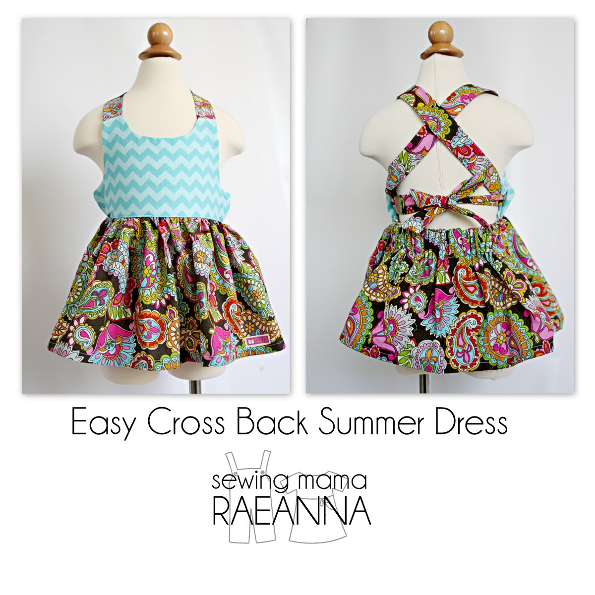 Easy Cross Back Summer Dress The Sewing Rabbit