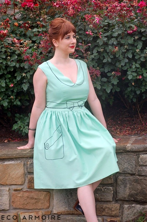 Trompe L'WOW Dress w/ side pocket tutorial