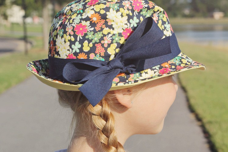 The Floral Fedora - The Sewing Rabbit 5dc2c78159a