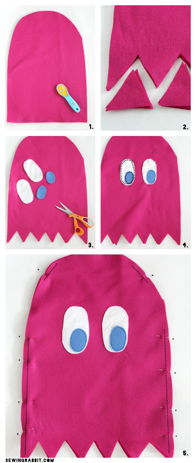 Pac Man Amp Ghost Costume Diy The Sewing Rabbit