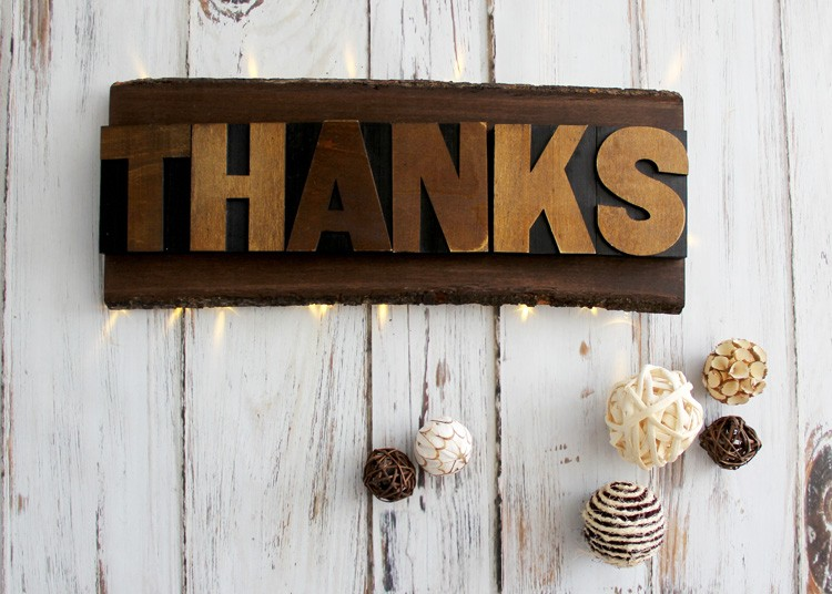 'Thanks' Backlit Sign