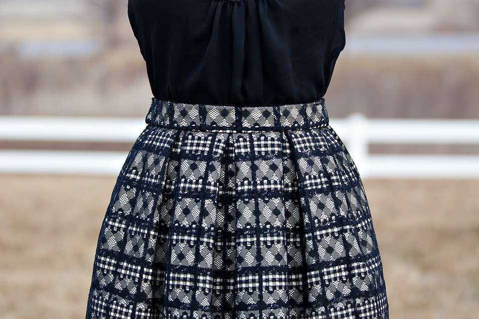 Lace Amp Plaid Midi Skirt Diy The Sewing Rabbit