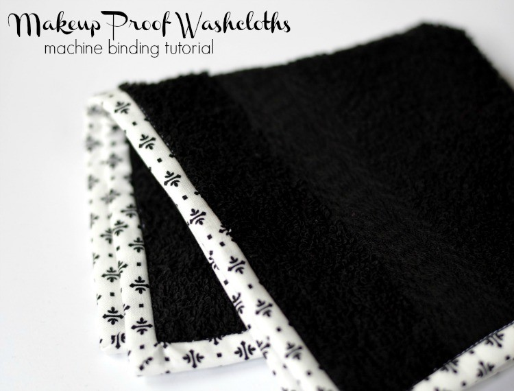 Makeup proof washcloths, a Machine Binding DIY - The Sewing Rabbit