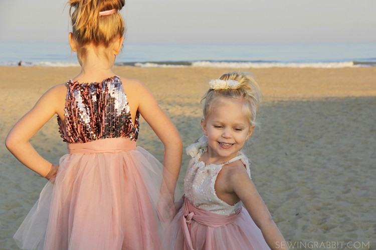 Sequin Pillowcase Flower Girl Dress